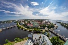 Gamla byggnader av Vyborg Royaltyfri Foto