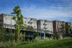 Gamla byggnader Bronx Arkivbilder