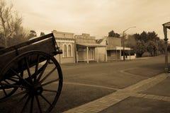 Gamla byggnader, Eltham, Taranaki Arkivbild