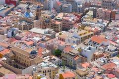 Gamla byggnader i Alicante Fotografering för Bildbyråer