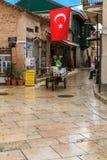 Gamla byggnader i Antalyaen Royaltyfri Foto