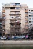 Gamla byggnader i Bucharest Fotografering för Bildbyråer