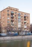 Gamla byggnader i Bucharest Royaltyfri Foto