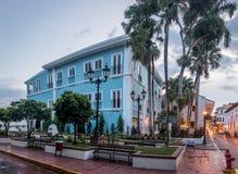 Gamla byggnader i Casco Viejo - Panama City, Panama Arkivbild