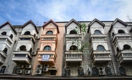 Gamla byggnader i Chiang Mai, Thailand Arkivbild