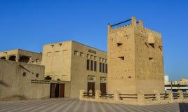 Gamla byggnader i den Bastakia fjärdedelen royaltyfria bilder