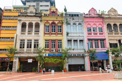 Gamla byggnader i det Kuala Lumpur centret Arkivfoton