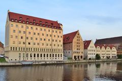 Gamla byggnader i Gdansk royaltyfri bild