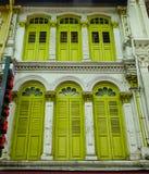 Gamla byggnader i kineskvarteret, Singapore royaltyfria foton