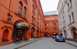 Gamla byggnader i Moskva, Ryssland Arkivbild