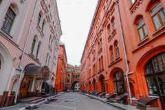 Gamla byggnader i Moskva, Ryssland Royaltyfri Fotografi