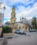 Gamla byggnader i Moskva, Ryssland Fotografering för Bildbyråer