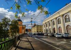 Gamla byggnader i Moskva, Ryssland Arkivbilder