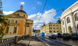 Gamla byggnader i Moskva, Ryssland Royaltyfri Foto