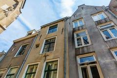 Gamla byggnader i Nijmegen, Nederländerna Fotografering för Bildbyråer