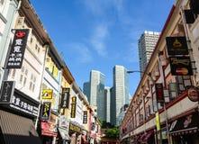 Gamla byggnader i Penang, Malaysia Arkivfoto