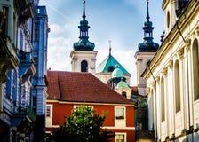 Gamla byggnader i Prague Royaltyfri Foto