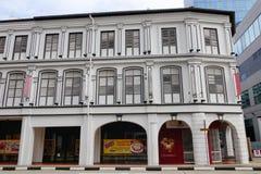 Gamla byggnader i Singapore Arkivbild