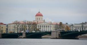 Gamla byggnader i St Petersburg, Ryssland Arkivbilder