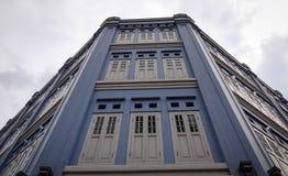 Gamla byggnader som lokaliseras i kineskvarteret, Singapore Royaltyfria Bilder