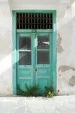 Gamla dörr- och vallmoblommor Arkivbild
