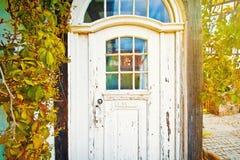 Gamla dörrar i det gamla huset royaltyfri foto