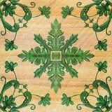 Gamla dekorativa modeller för sandstentegelplattabakgrund Royaltyfria Foton