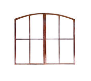 Gamla den isolerade fönsterramen Royaltyfria Bilder