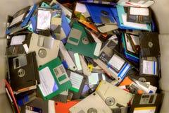 Gamla disketter arkivbild