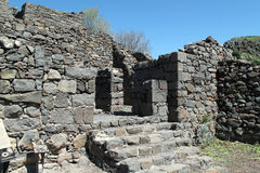 Gamla domów ruiny, Izrael Fotografia Royalty Free
