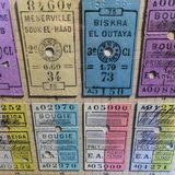 Gamla drevbiljetter på det tyska museet av teknologi Deutsche Techn arkivbilder