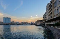 Gamla Dubai Abra Creek Arkivbild