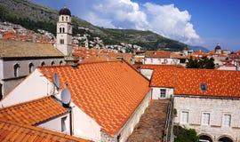 Gamla Dubrovnik från över Arkivbild