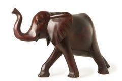 Gamla Ebony Elephant Figure Fotografering för Bildbyråer