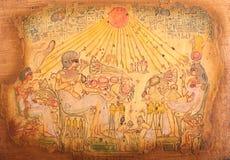 Gamla egyptiska gudar Fotografering för Bildbyråer