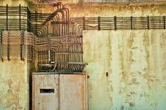 Gamla elektriska installationer Royaltyfria Bilder