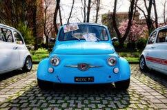 Gamla Fiat 500 Abarth Arkivbilder