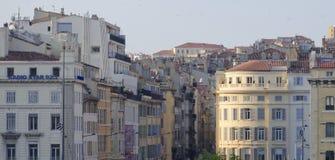Gamla fjärdedelar av Marseille Arkivfoton