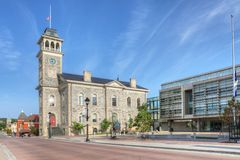 Gamla Galt City Hall i Cambridge, Kanada Arkivfoto