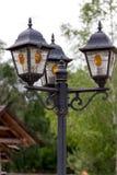 Gamla gataljus för Arkivbild