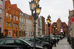 Gamla gator av Gdansk royaltyfri fotografi