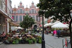 Gamla gator av Gdansk arkivbilder