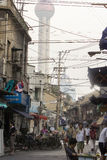 Gamla gator av Shanghai arkivbilder