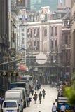 Gamla gator av Shanghai arkivfoto