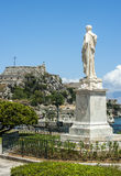 Gamla gator, Korfu stad arkivbilder