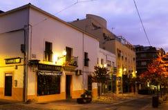 Gamla gator på Merida i gryning Royaltyfria Bilder