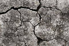 Gamla Gray Concrete Wall With Cracks Royaltyfria Bilder