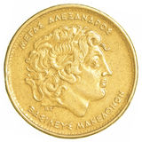100 gamla grekiska drakmor mynt Arkivbilder