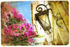 Gamla grekiska gator Royaltyfria Foton