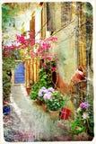 Gamla grekiska gator Royaltyfria Bilder